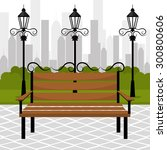 urban park design  vector... | Shutterstock .eps vector #300800606