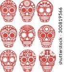 sugar skull | Shutterstock .eps vector #300819566