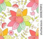 flower seamless pattern. | Shutterstock . vector #300829892