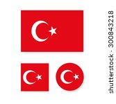set of vector icons with turkey ... | Shutterstock .eps vector #300843218