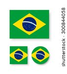 set of vector icons with brazil ... | Shutterstock .eps vector #300844058