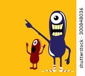 cartoon cute monsters. friendly ... | Shutterstock .eps vector #300848036