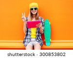 fashion and technology concept  ... | Shutterstock . vector #300853802