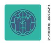 global partnership icon. vector ... | Shutterstock .eps vector #300860246