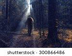 ranger in autumn forest... | Shutterstock . vector #300866486