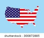 Usa Map Flag