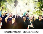 diversity students graduation... | Shutterstock . vector #300878822