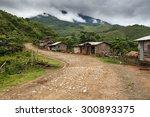 Dirt Road Leading Through Chin State Mountainous Region, Myanmar (Burma)