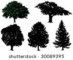 vector trees | Shutterstock .eps vector #30089395