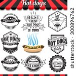 hot dogs collection of vector... | Shutterstock .eps vector #300896762