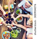 food table celebration... | Shutterstock . vector #300904076