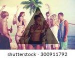summer togetherness friendship... | Shutterstock . vector #300911792