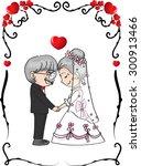 wedding anniversary   Shutterstock .eps vector #300913466