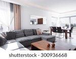 sunny and light living room in... | Shutterstock . vector #300936668