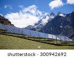solar panels under the blue sky ...   Shutterstock . vector #300942692