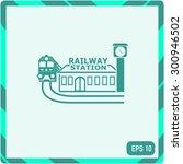railway station icon | Shutterstock .eps vector #300946502