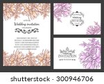 wedding invitation cards with... | Shutterstock . vector #300946706