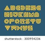 snake stripe font set. bold | Shutterstock .eps vector #300954236