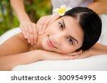 portrait of an attractive woman ...   Shutterstock . vector #300954995