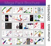 mega pack brochure design... | Shutterstock .eps vector #300969836