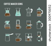 coffee brewing methods icons... | Shutterstock .eps vector #300970052