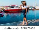 close up  portrait of elegant... | Shutterstock . vector #300971618