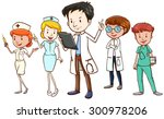 team of doctors and nurses...   Shutterstock .eps vector #300978206