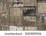 boards the finish on the wooden ... | Shutterstock . vector #300989006