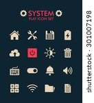 vector flat icon set   system
