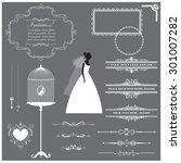 vector illustration of a set of ... | Shutterstock .eps vector #301007282