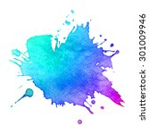 abstract hand drawn watercolor... | Shutterstock . vector #301009946