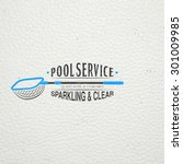 pool service. maintenance and... | Shutterstock .eps vector #301009985