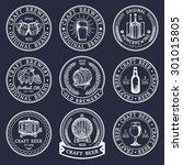 old brewery logos set. kraft... | Shutterstock .eps vector #301015805