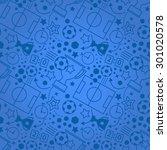 soccer seamless pattern. sport... | Shutterstock .eps vector #301020578