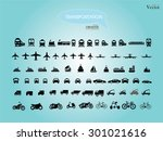 transport icons.transportation .... | Shutterstock .eps vector #301021616