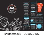 restaurant cafe menu  template... | Shutterstock .eps vector #301022432