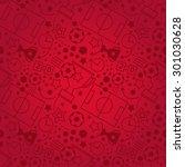 soccer seamless pattern. sport... | Shutterstock .eps vector #301030628