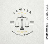 lawyer services. law office.... | Shutterstock .eps vector #301034618
