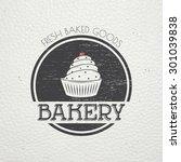 sweet cupcakes. bakery baking.... | Shutterstock .eps vector #301039838