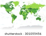 a high detail vector map of the ... | Shutterstock .eps vector #301055456