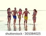 friendship  sea  summer... | Shutterstock . vector #301084025