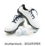 Modern Golf Shoes With Balls...