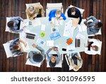 meeting communication planning... | Shutterstock . vector #301096595