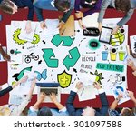 recycle reduce reuse eco... | Shutterstock . vector #301097588