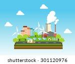 eco industrial town | Shutterstock .eps vector #301120976
