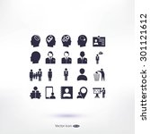 business man icons | Shutterstock .eps vector #301121612