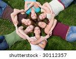 group of college girls | Shutterstock . vector #30112357