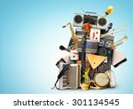 music  musical instruments and... | Shutterstock . vector #301134545