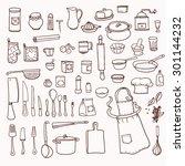 cooking. kitchen utensils... | Shutterstock .eps vector #301144232
