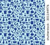 household pattern | Shutterstock .eps vector #301144976